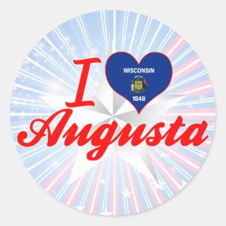 I Love Augusta, Wisconsin Classic Round Sticker