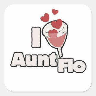 I love Aunt FLO menstrual cup Square Sticker