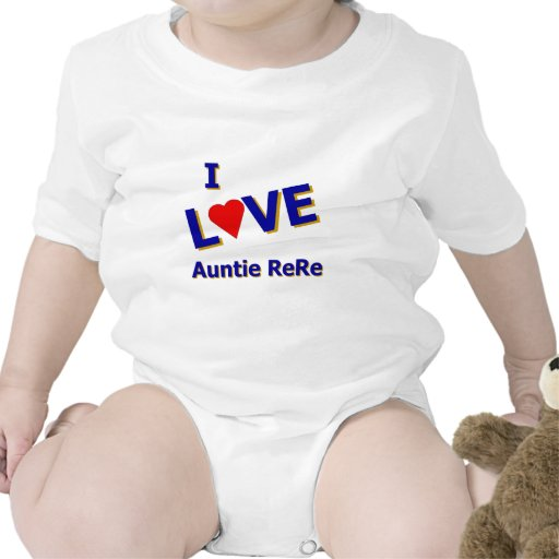 I Love Auntie ReRe designed by Celeste Sheffey Tee Shirt