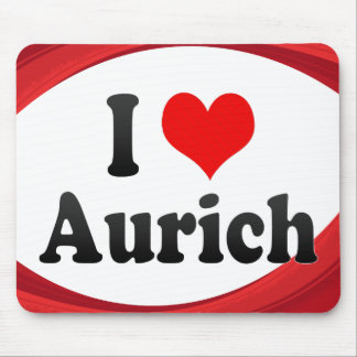 I Love Aurich Germany Ich Liebe Aurich Germany Mouse Pads