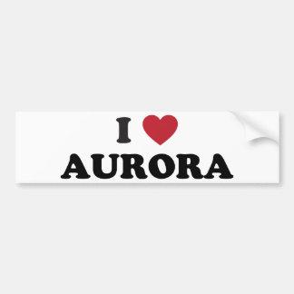 I Love Aurora Illinois Bumper Sticker