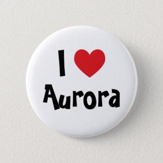 I Love Aurora Pinback Button