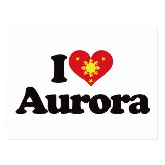 I Love Aurora Postcards