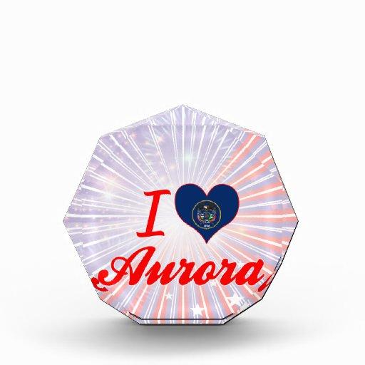 I Love Aurora, Utah Acrylic Award