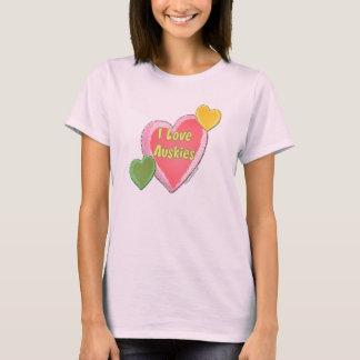 I Love Auskies Dog Heart T-Shirt