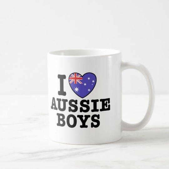 I Love Aussie Boys Coffee Mug
