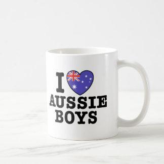 I Love Aussie Boys Mugs