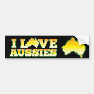 I Love Aussies! Australiana Design Bumper Sticker