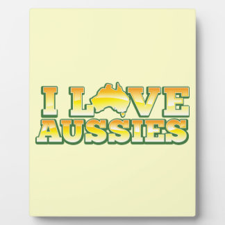 I Love Aussies! Australiana Design Plaque