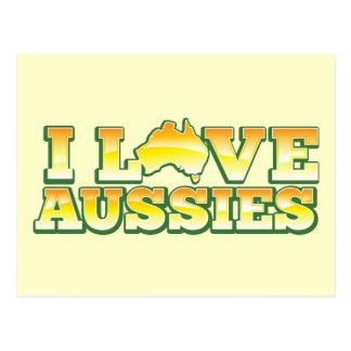 I Love Aussies! Australiana Design Postcard