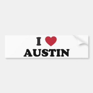 I Love Austin Bumper Sticker