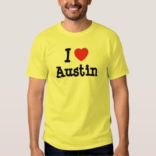 I love Austin heart custom personalized Tees