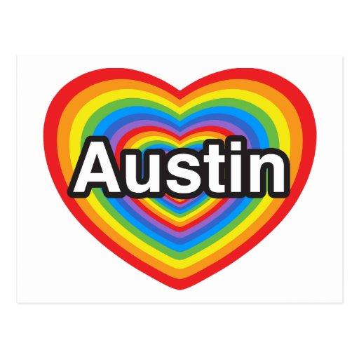 I love Austin. I love you Austin. Heart Postcards