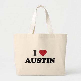 I Love Austin Jumbo Tote Bag