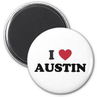 I Love Austin 2 Inch Round Magnet
