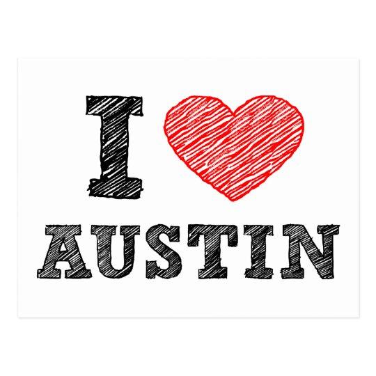 I Love Austin Postcard
