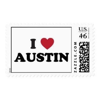 I Love Austin Stamp