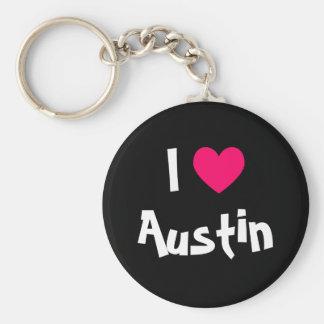 I Love Austin Texas Keychain