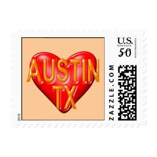 I Love Austin Texas Postage