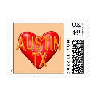 I Love Austin Texas Stamps