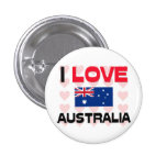 I Love Australia 1 Inch Round Button