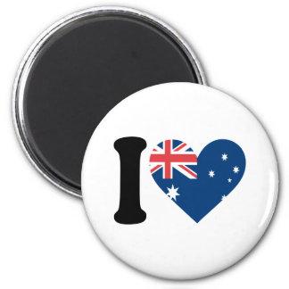 I Love Australia 2 Inch Round Magnet