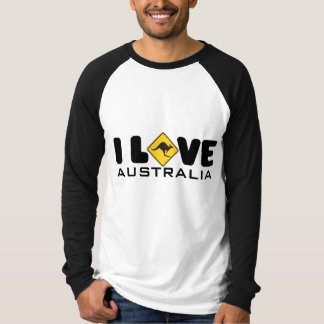 I love Australia Basic Long Sleeve Raglan T-shirt