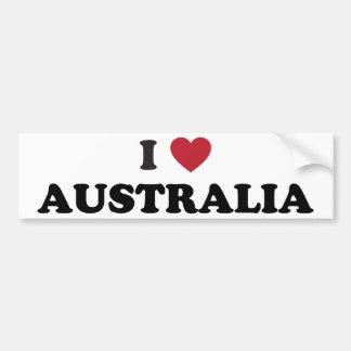 I Love Australia Bumper Stickers