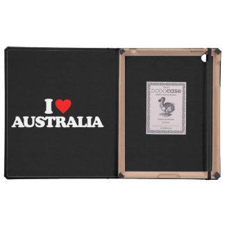 I LOVE AUSTRALIA iPad FOLIO CASE
