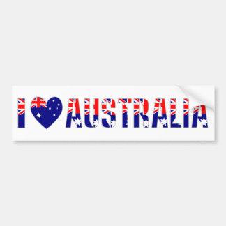 I Love Australia (Dark) Bumper Sticker