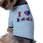 I Love Australia Dog Tee