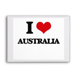 I Love Australia Envelopes