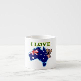 I love Australia Espresso Cup