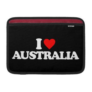 I LOVE AUSTRALIA MacBook SLEEVES