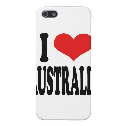 I Love Australia iPhone 5 Case