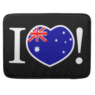 I Love Australia Macbook Pro Sleeves