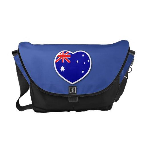 I Love Australia Messenger Bag