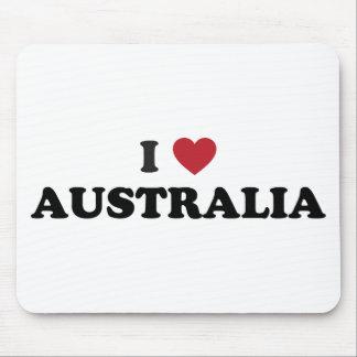 I Love Australia Mouse Pad