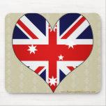 I Love Australia Mousepads
