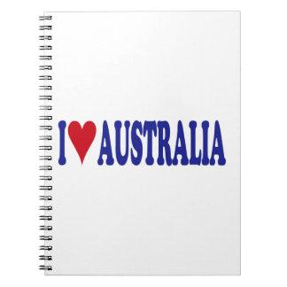 I Love Australia Notebook