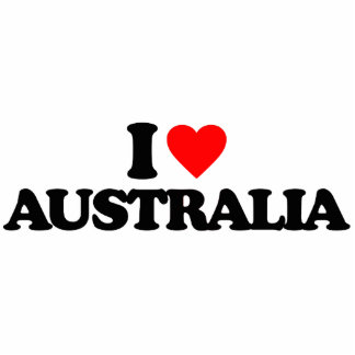 I LOVE AUSTRALIA PHOTO CUT OUT