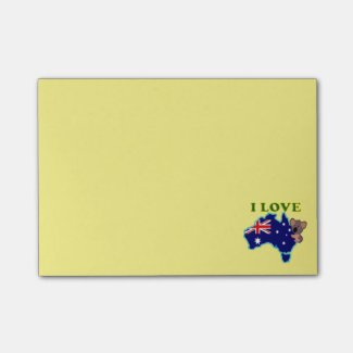 I love Australia Post-it® Notes