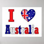 I Love Australia Posters