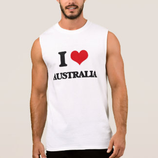 I Love Australia Sleeveless Tees
