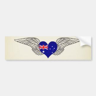 I Love Australia -wings Car Bumper Sticker