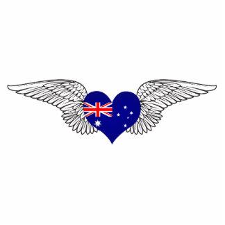 I Love Australia -wings Photo Cutout