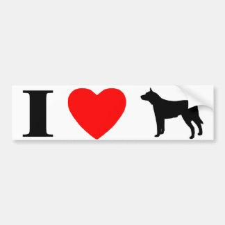 I Love Australian Cattle Dogs Bumper Sticker
