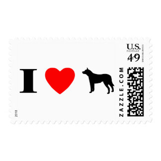 I Love Australian Cattle Dogs Postage Stamps