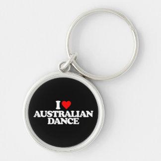 I LOVE AUSTRALIAN DANCE KEYCHAIN