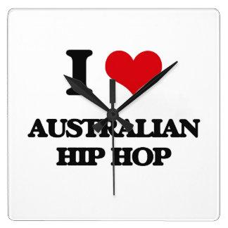 I Love AUSTRALIAN HIP HOP Wallclock